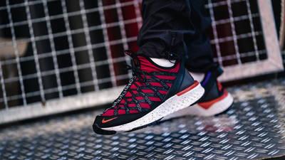 Nike ACG React Terra Gobe Red Purple BV6344-601 on foot side
