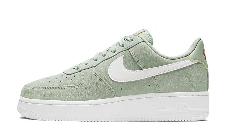 white air force green tick