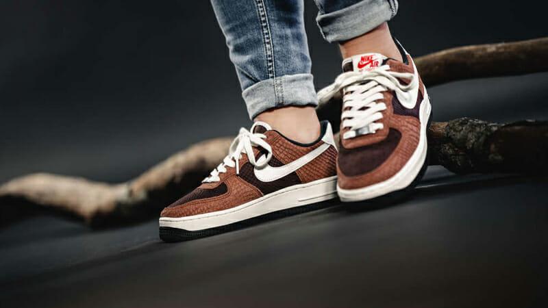 Nike Air Force 1 Snakeskin Brown