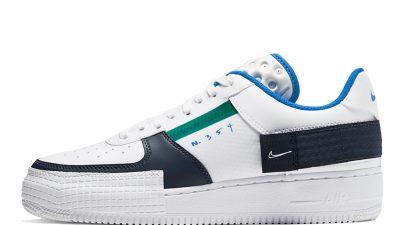Nike Air Force 1 Type White Blue CQ2344-100