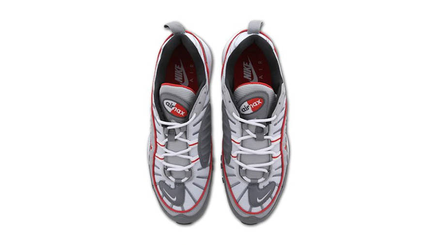 Nike Air Max 98 Grey Red CI3693-001 middle