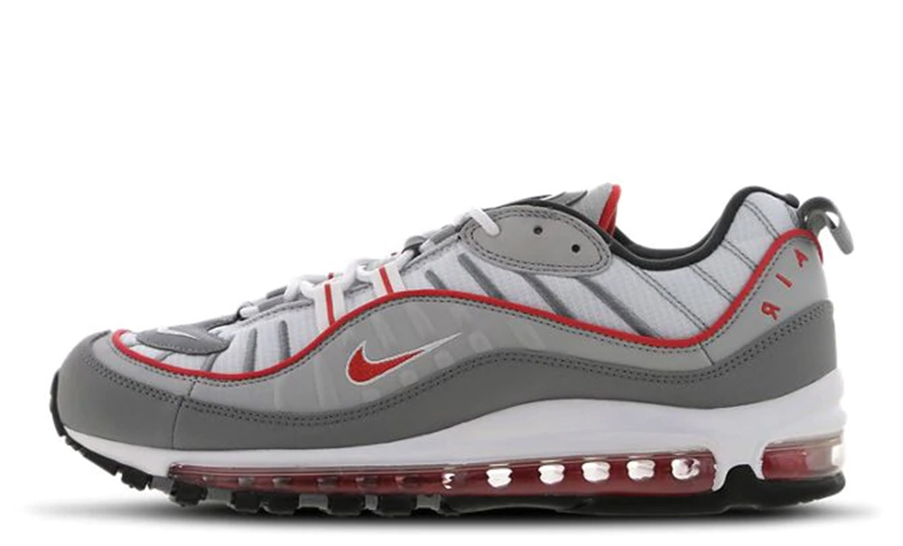 Nike Air Max 98 Grey Red   Where To Buy
