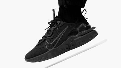 Nike React Vision Black On Foot