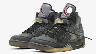Off-White x Jordan 5 Black front