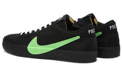 Poets x Nike SB Zoom Bruin Black Green CU3211-001 back