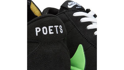 Poets x Nike SB Zoom Bruin Black Green CU3211-001 tongue