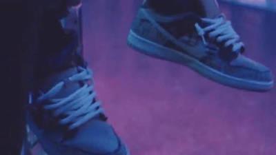 Travis Scott x Nike SB Dunk Low Cactus Jack on foot side