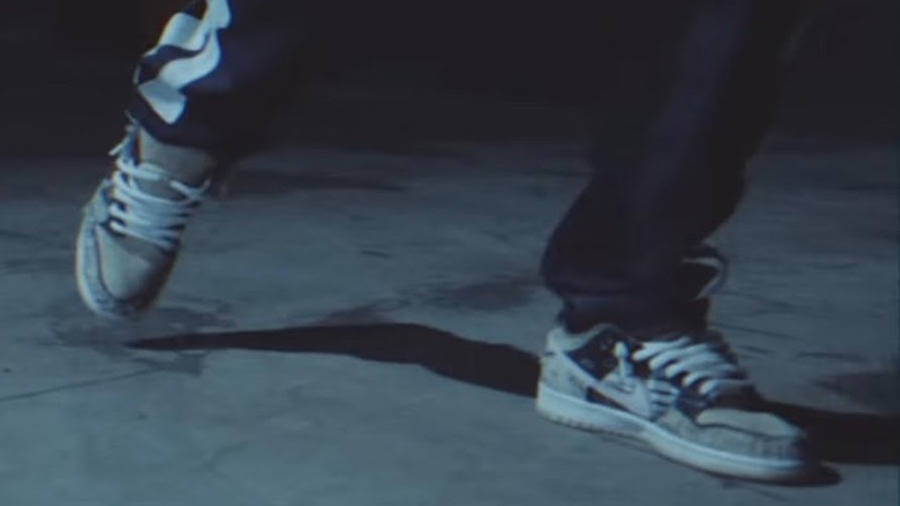Travis Scott x Nike SB Dunk Low Cactus Jack on foot