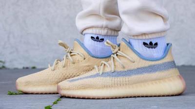Yeezy Boost 350 V2 Linen On Foot