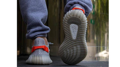 Yeezy Boost 350 V2 Tail Light on foot back