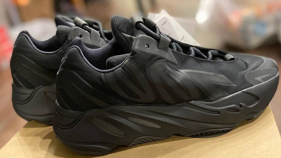 Yeezy Boost 700 MNVN Triple Black Lifestyle On Box