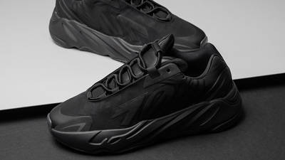 Yeezy Boost 700 MNVN Triple Black Lifestyle On Floor