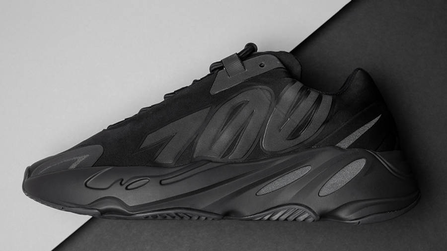Yeezy Boost 700 MNVN Triple Black Lifestyle Side