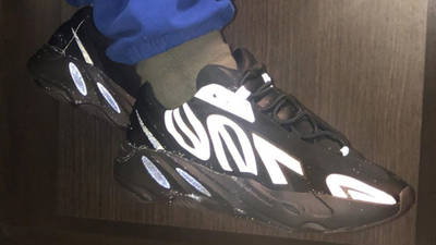 Yeezy Boost 700 MNVN Triple Black On Foot