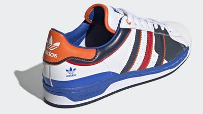 adidas Superstar 50 White Blue Scarlet Back