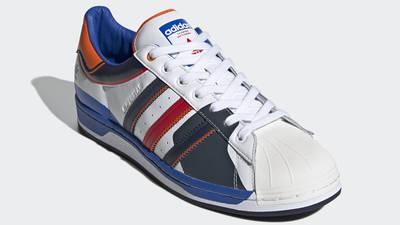 adidas Superstar 50 White Blue Scarlet Front