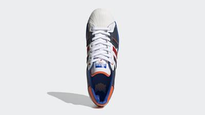 adidas Superstar 50 White Blue Scarlet Middle