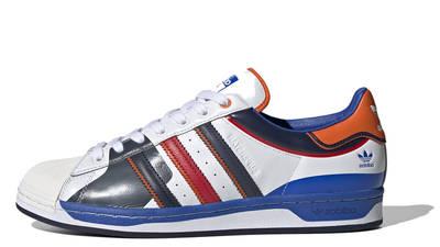 adidas Superstar 50 White Blue Scarlet