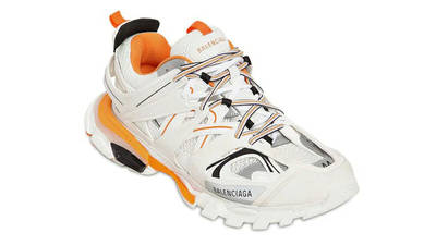 Balenciaga Track White Orange Front