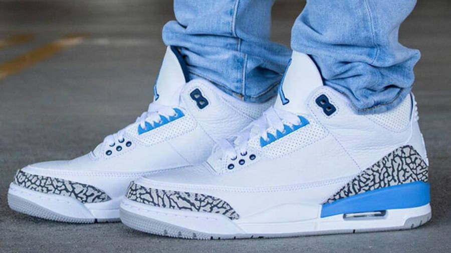 Jordan 3 UNC (2020) Release Dates and Where To Buy | CT8532-104 ...