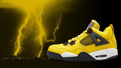 Jordan 4 Lightning CT8527-700 lifestyle