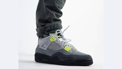 Jordan 4 Neon Air Max 95 Grey On Foot 1