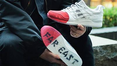 Mita Sneakers x Mitsui x Kunii x ASICS Gel Lyte 3 Red White 1193A185-000 lifestyle