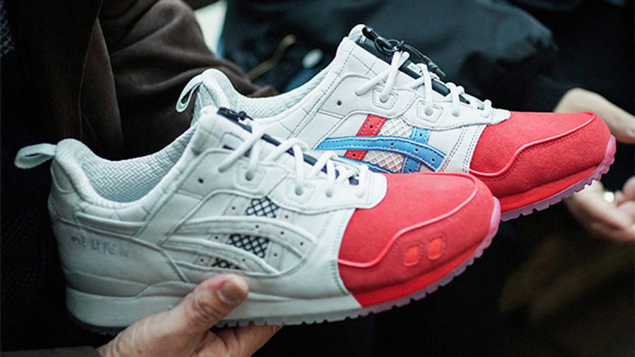 Mita Sneakers x Mitsui x Kunii x ASICS Gel Lyte 3 Red White 1193A185-000 on hand