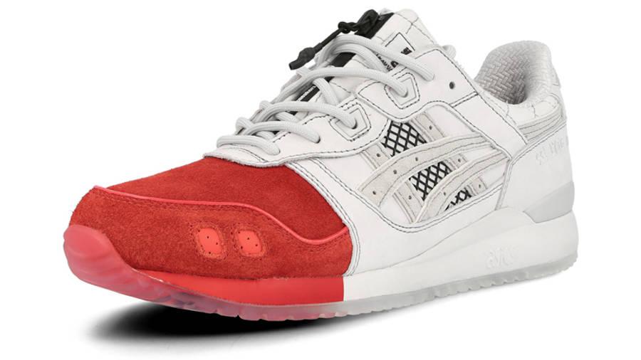 Mita Sneakers x Mitsui x Kunii x ASICS Gel Lyte 3 Red White Front