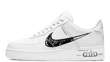 nike air force one with black tick