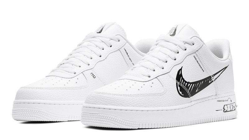 Nike Air Force 1 Low Sketch White - Where To Buy - CW7581-101 ...