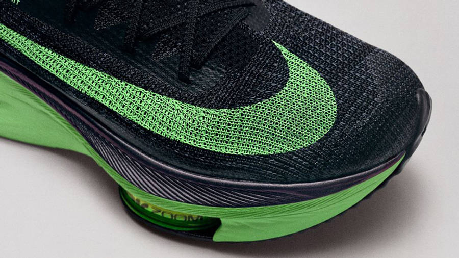 Nike Air Zoom Alphafly NEXT% Black Volt Front Zoom