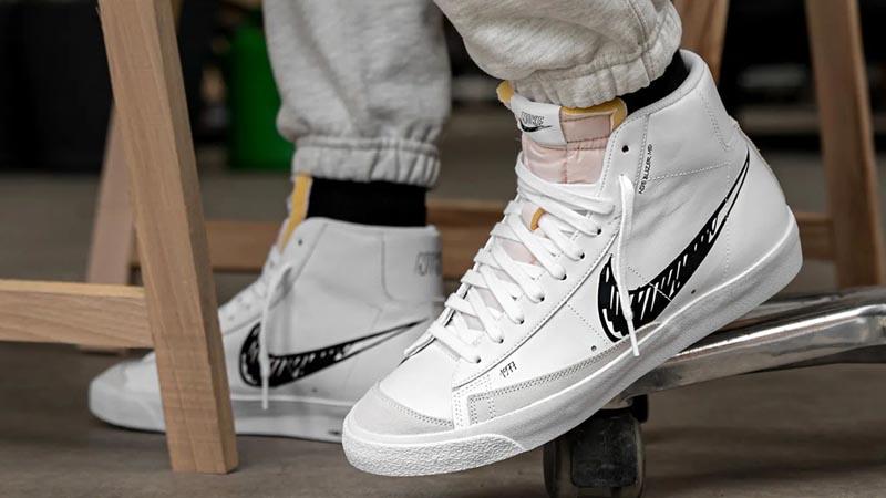 Nike Blazer Mid 77 White Black Sketch   Where To Buy   CW7580-101 ...