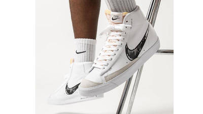 Nike Blazer Mid 77 White Black Sketch | Where To Buy | CW7580-101 ...
