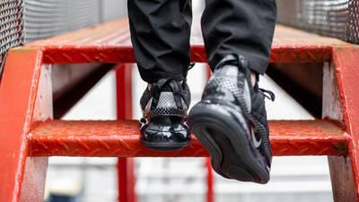 Nike MX 720-818 Black On Foot Back