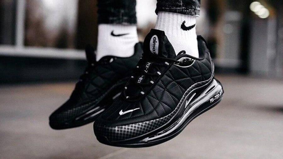 Nike MX 720-818 Black On Foot Side
