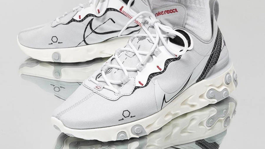 Nike React Element 55 Schematic Grey | Where To Buy | CU3009-002 ...