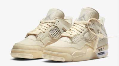 Off-White x Nike Air Jordan 4 White Front
