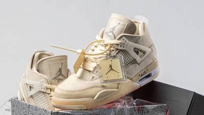 Off-White x Nike Air Jordan 4 White In Pack