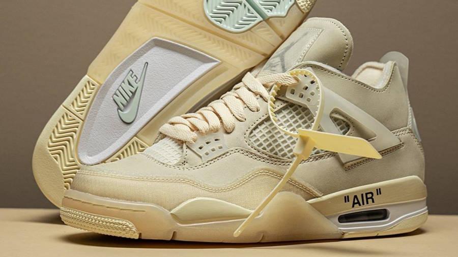 Off-White x Nike Air Jordan 4 White Lifestyle Side