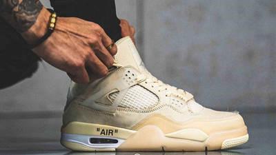 Off-White x Nike Air Jordan 4 White On Foot