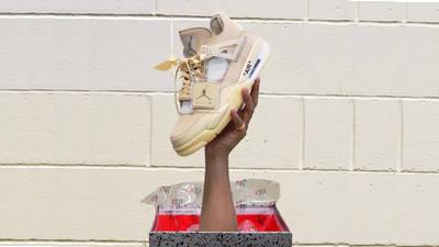 Off-White x Nike Air Jordan 4 White On Hand