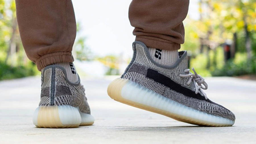 Yeezy Boost 350 V2 Zyon on foot back