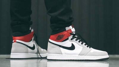 Air Jordan 1 Retro High Light Smoke Grey On Feet1