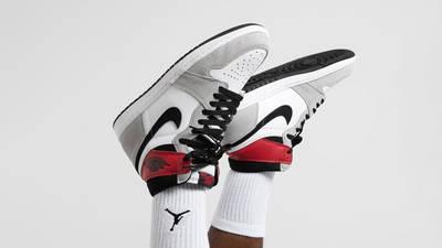 Air Jordan 1 Retro High Light Smoke Grey On Foot Upside Down