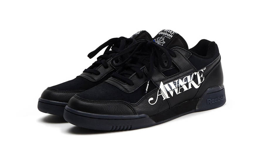 Awake NY x Reebok Workout Low Black front