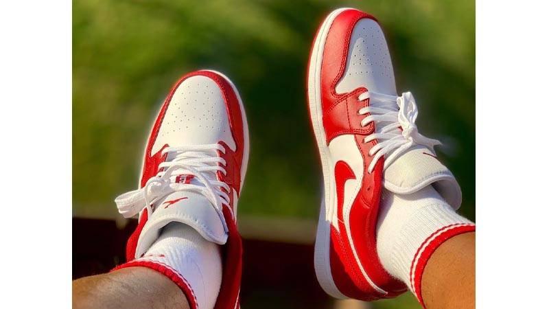 air jordan 1 low bianche rosse