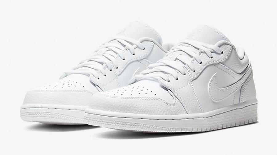Jordan 1 Low Triple White 553558-130 front