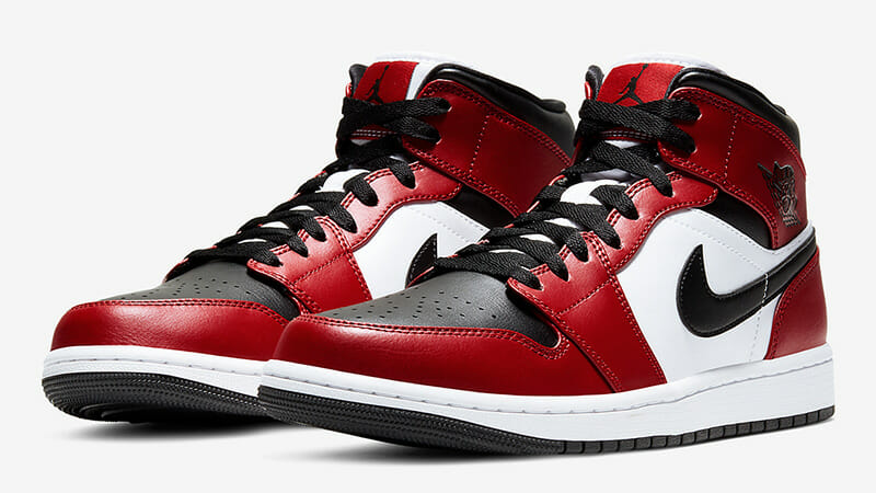air jordan 1 mid chicago toe