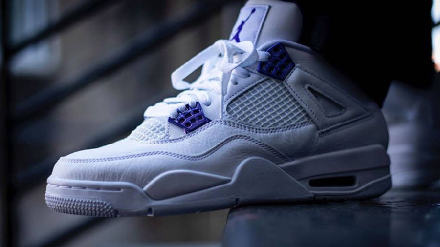 Jordan 4 Court Purple On Feet1